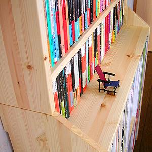 A4本棚の上に文庫本棚